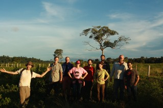 Posing for a group photo after a day of methane sampling in Rondonia, Brazil.
